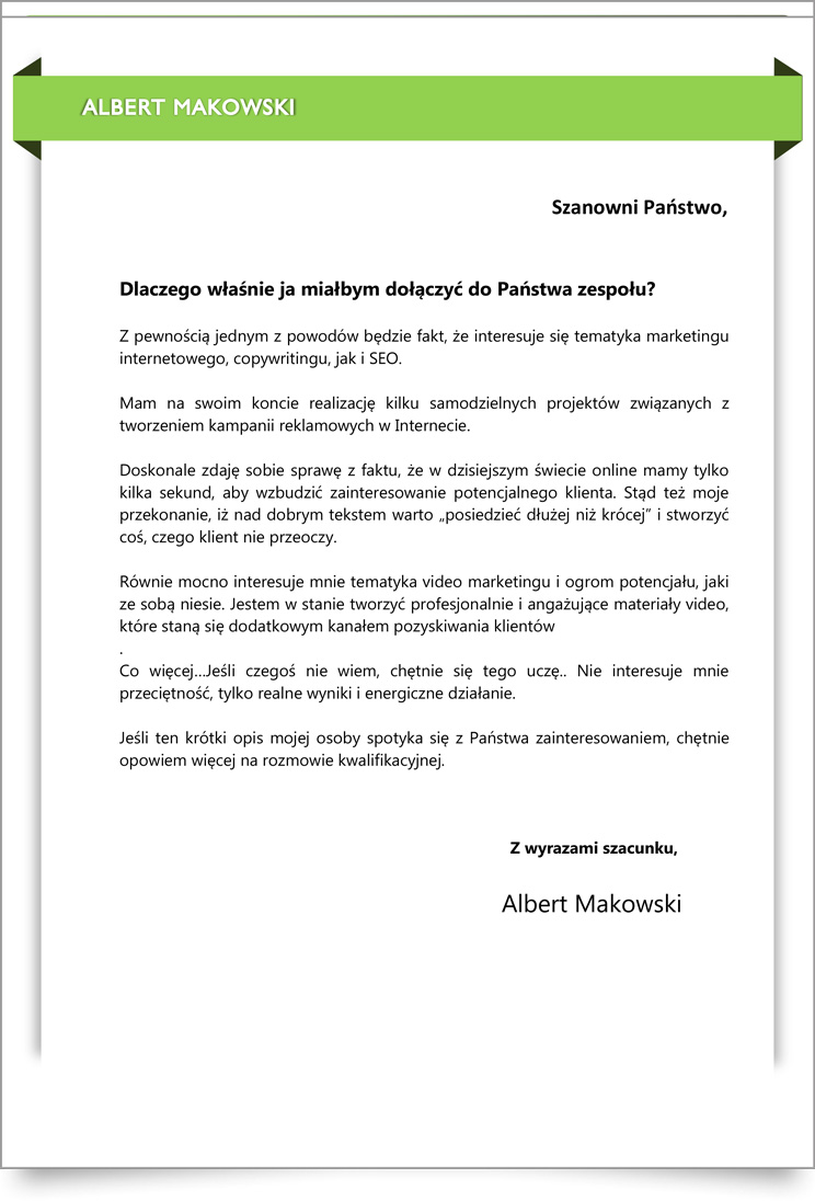 cover letter template word download