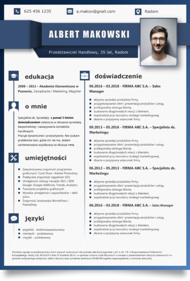 cv doc download szablon word